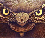 """Owl"" 1.20X50 aqrylic on Canvas"