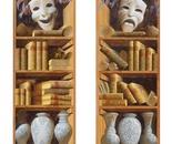 Sergey Konstantinov Paintings Bookshelves.