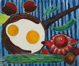 Naturmort with omelette