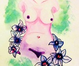 Torso With Flowers