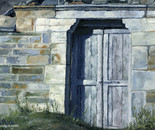 7. Door outside the Konstamonito Holy Monastery: Oil on canvass board 24x30 cm