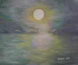 Gulf Island and the moon