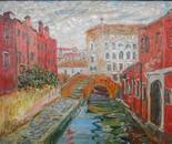 Venice. The red houses