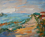 Landscape with a barrier in San Giuliano Mare
