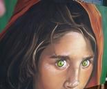 green eyes ( Sharbat, la ragazza afghana)