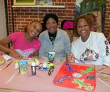 Three generations of the artists; Natalya B. Parris's Art Around Us class at the Gaithersburg Arts Barn on Monday, October 12, 2015