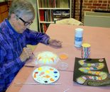 Student is working; Art Around Us class at the Gaithersburg Arts Barn on Monday, October 12, 2015