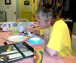 Student is creating; Art Around Us class at the Gaithersburg Arts Barn on Monday, October 26, 2015