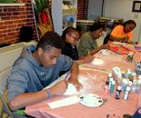Students are creating; Art Around Us class at the Gaithersburg Arts Barn on Monday, October 26, 2015