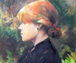 """reproduction of """"Girl with red hair"""" by Toulouse Lautrec"""