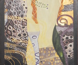 """reproduction of """"Water snakes I"""" by Gustav Klimt"""