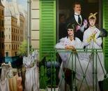 LA GRANDE LESSIVE  Oil on canvas 200 cm x 200 cm