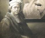 REMBRANDT - YUE MINJUN Pastel on Paper 100 cm x 70 cm