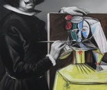 VELAZQUEZ AND PICASSO Pastel on Paper 100 cm x 70 cm