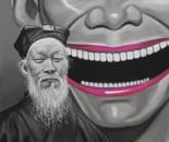 MR YUE MINJUN Pastel on Paper 70 cm x 50 cm