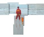 Live guard at the north sea