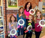 Natalya B. Parris with her students; Art Explorers class on November 12, 2015 at the Gaithersburg Arts Barn, 301-258-6394