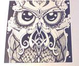 Abstract Owl Pen Design