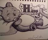 Stippled Happy