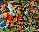 --Football--oil on canvas120x100cm.-2004.
