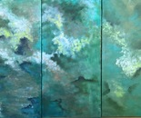 Nature's Wonder mixed media (triptych)24''x 36''