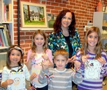 Natalya B. Parris with her students; Art Explorers class on December 10, 2015 at the Gaithersburg Arts Barn, 301-258-6394