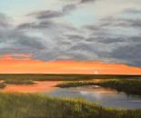 Sunset Over Marshlands, 24x36