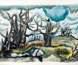 Inspired by  Charles Burchfield's An April Mood