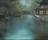 Pagoda in Rain, 18x24