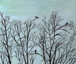 Crows in Trees 3