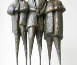 Franch shepherds on stilts