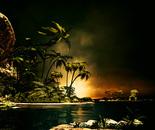 Troical island