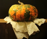 ,,Pumpkin''-oil on canvas-61x50cm.Hiperrealist painting