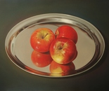 ,,Three apples''-oil on canvas-81x60cm
