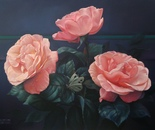 ,,Roses''-oil on canvas-81x60cm
