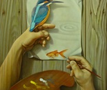 ,,Waves''-oil on canvas-46x38cm