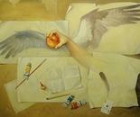 ,,Universe''-oil on canvas-102x76cm