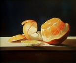 ,,Orange''-oil on canvas-55x46cm
