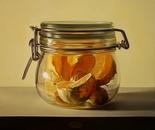 ,,Tangerine slices''-oil on canvas-30x30cm