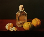 ,,Peeled tangerine''oil on canvas-46x38cm