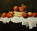 ,,Valeni apples''-oil on canvas-81x60cm