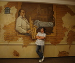 Me and ,,The sax man''-mural oil painting-420x290cm-Restaurant ,Ches Alain'',Bucharest.