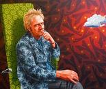 Portrait of Welshman, Illtyd Barrett - COMMISSION PAINTING
