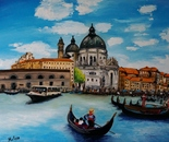 Venice and gondolier