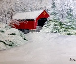 Carrollton Covered Bridge after the Snowstorm