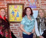 Natalya B. Parris with her student and the guest of the reception on Tues. March 24, 2015 at Invitational Gallery; Gaithersburg Arts Barn Natalya B. Parris's students artworks exhibit March 13 – April 19, 2015