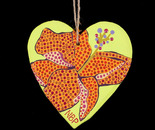 Wooden painted heart ornament (Front)