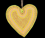 Wooden painted heart ornament (Back)