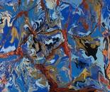"""Lapis Lazuli"", acrylic on paper, 22""x28"""