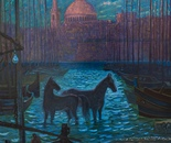 Bating maltese Horse _ 120 x 100  Oil, Canvas
